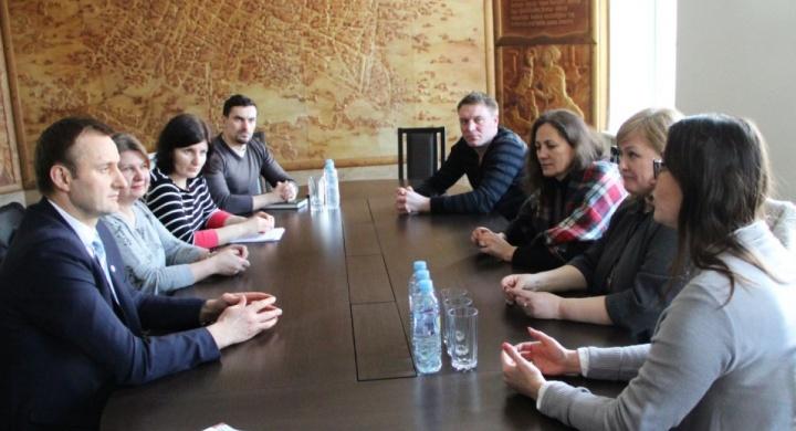 Susitikimas su Šiaulių miesto meru Artūru Visocku.